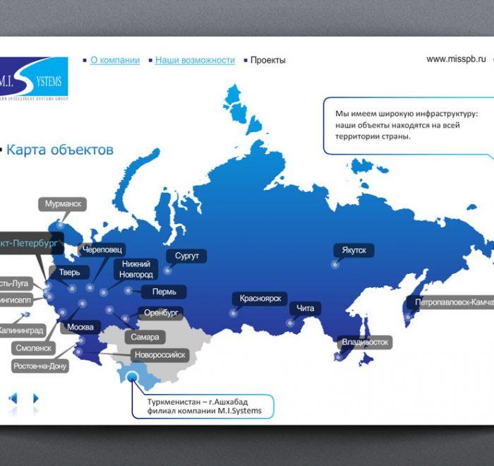 Карта рабочих объектов MI System
